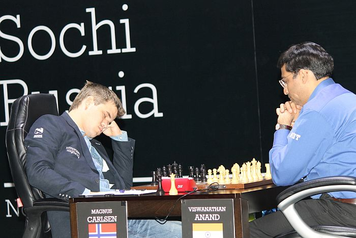 Carlsen - Anand, Sochi 2014