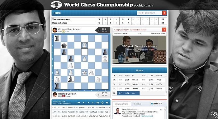 Carlsen vs. Anand - Sochi 2014 - round 6