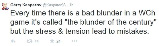 Twiter (@Kasparov63)